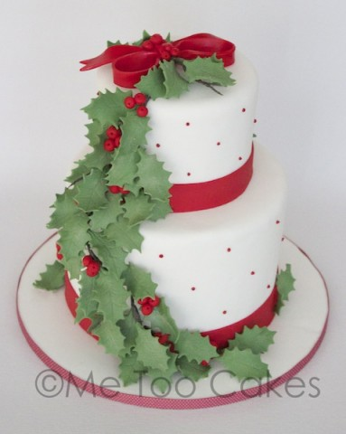 Christmas Cake Decoration Holly : Wedding Cakes - Me Too Cakes Amy Landini Kathuria
