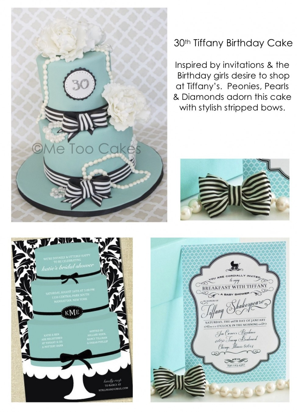 30th Tiffany Birthday Cakeinspiration