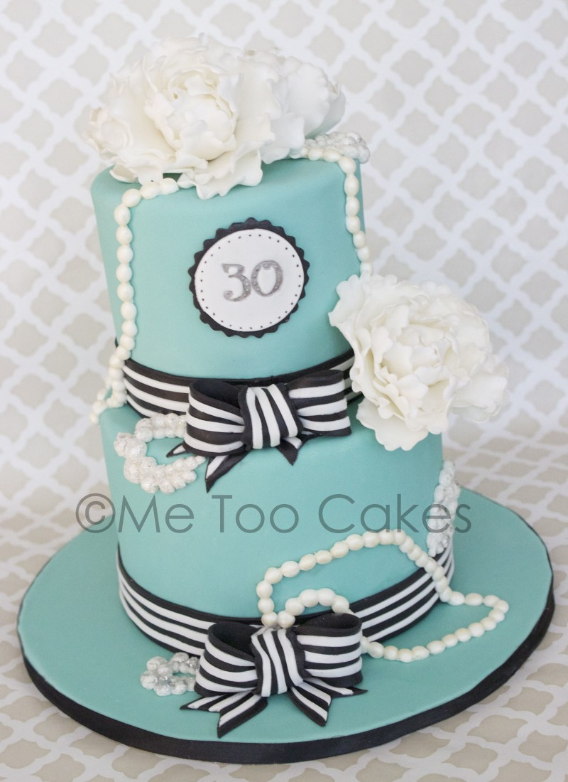 Excellent 30Th Birthday Tiffany Cake Me Too Cakes Amy Landini Kathuria Funny Birthday Cards Online Fluifree Goldxyz
