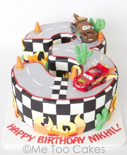Amazing 3 Cake W Lighting Mcqueen And Tow Mater Me Too Cakes Amy Funny Birthday Cards Online Alyptdamsfinfo