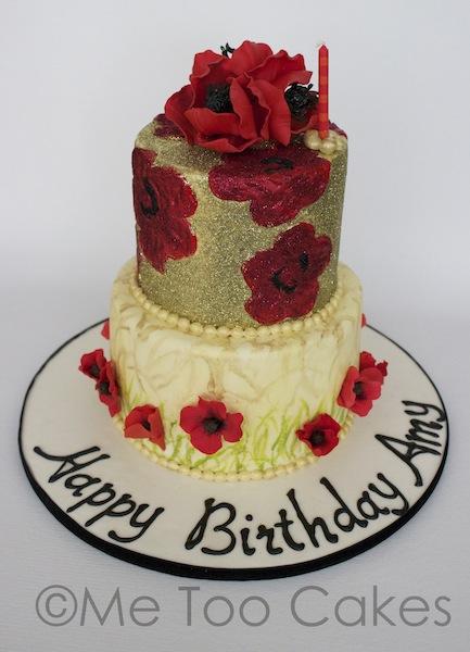 Super Poppy Disco Birthday Cake Me Too Cakes Amy Landini Kathuria Funny Birthday Cards Online Hendilapandamsfinfo